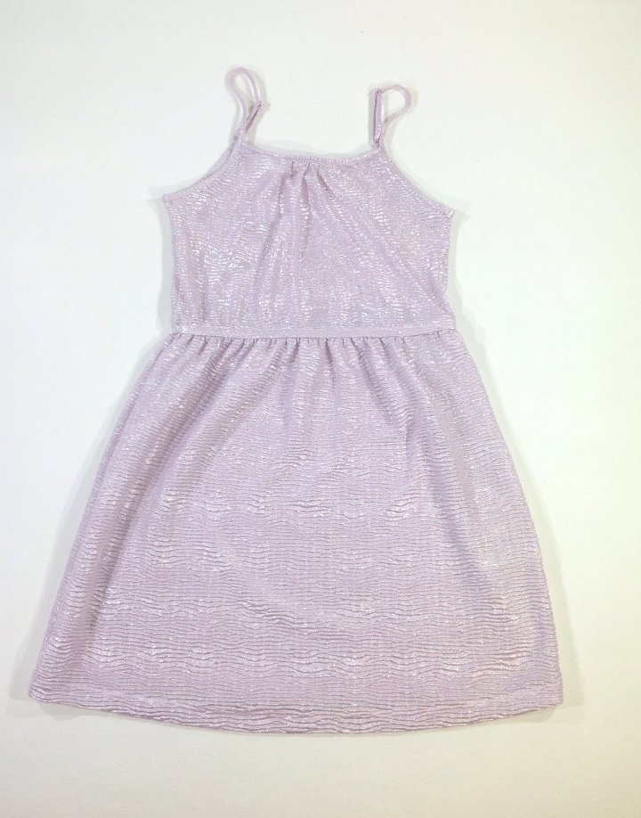 H&M fényes anyagú rózsaszín kislány ruha