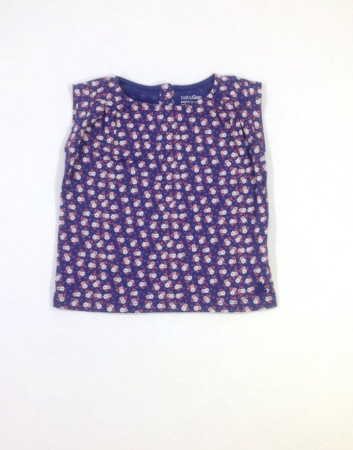 Gap apró virág mintás kislány póló