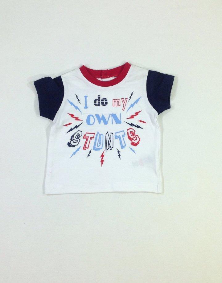 St. Bernard nyomott feliratos baba póló