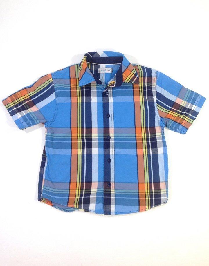 Marks&Spencer kék kockás fiú ing