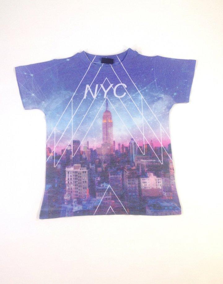 Next New York mintás kislány póló