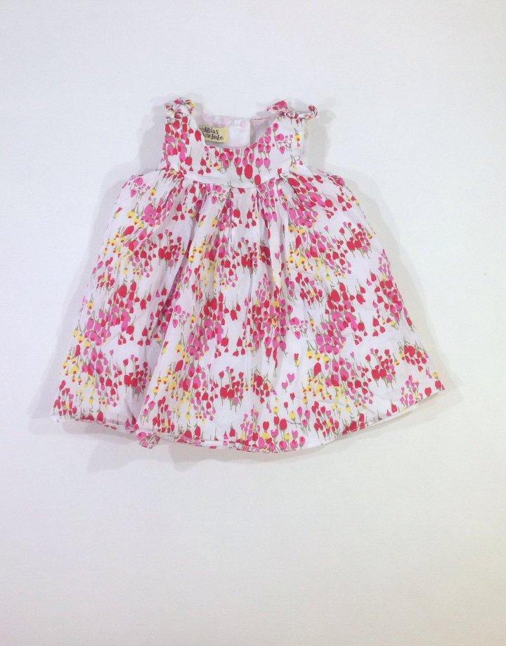 Matildas Wardobe tulipán mintás baba ruha
