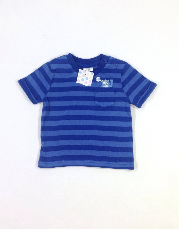 F&F csíkos baba póló