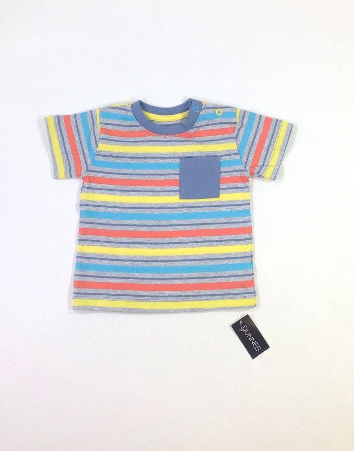 St. Bernard színes csíkos baba póló