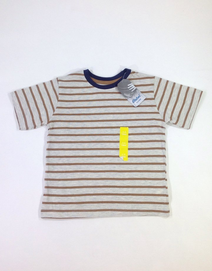 Rebel csíkos kisfiú póló