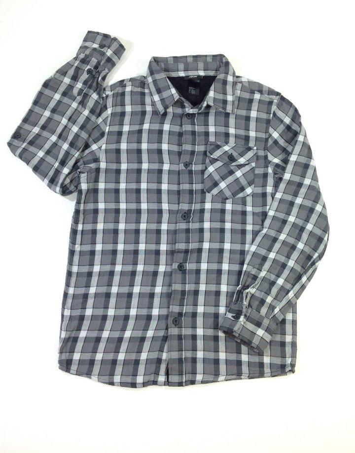 H&M szürke flanel fiú ing
