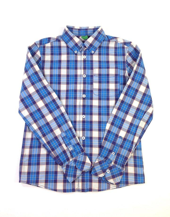 Benetton kék kockás fiú ing