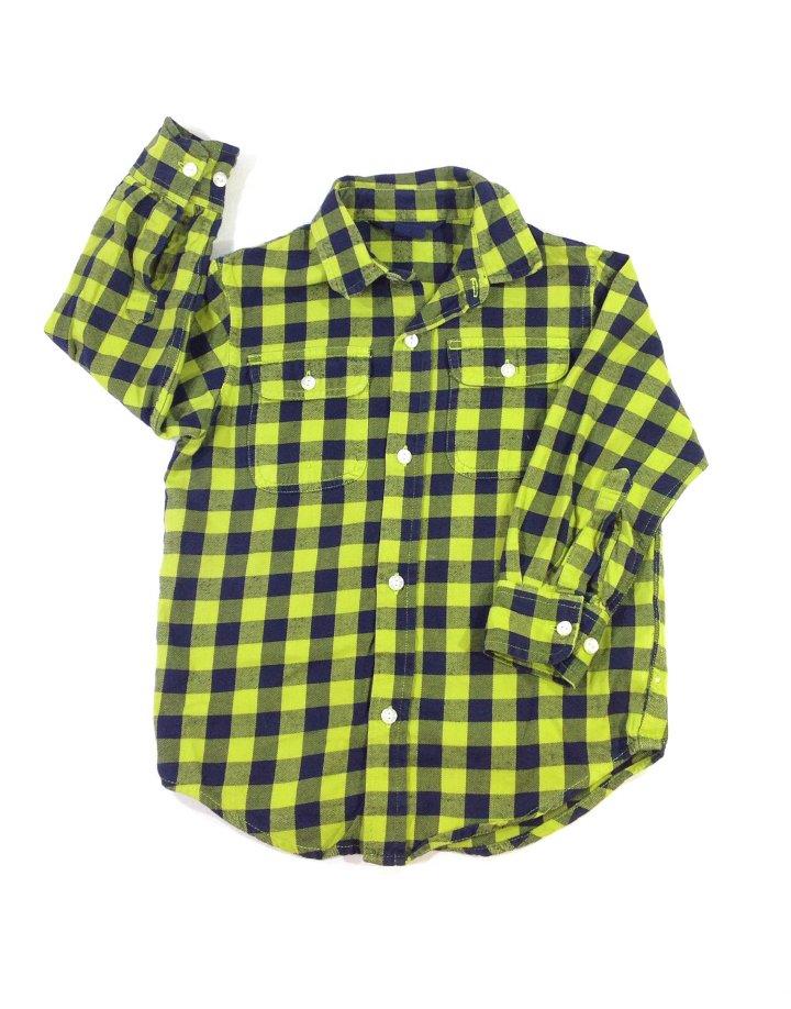 Gap zöld kisfiú flanel ing