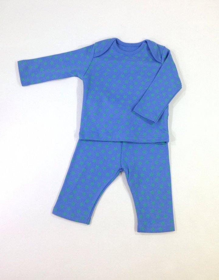 F&F csillag mintás kisfiú felső leggingssel