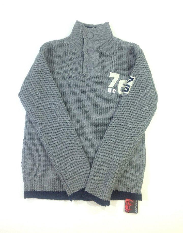Rebel kötött szürke fiú pulóver