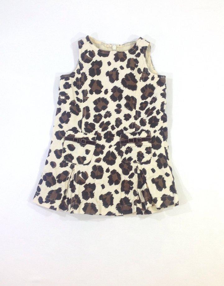 Mini Boden bársony baba ruha
