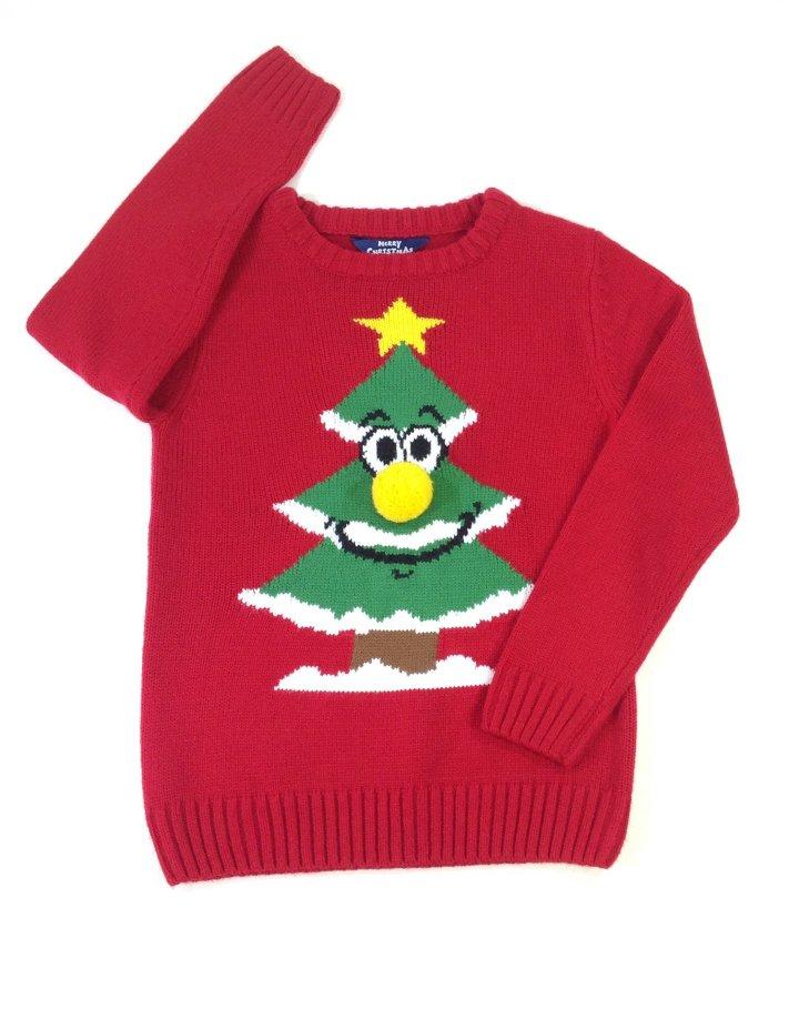 Matalan Karácsonyfa mintás kislány pulóver