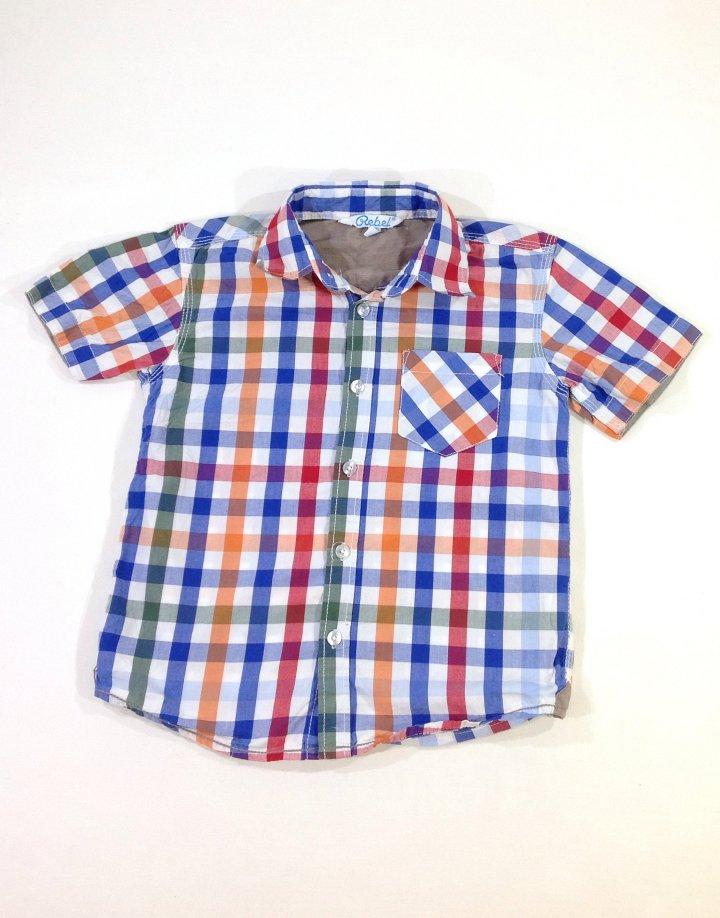 Rebel színes kockás kisfiú ing