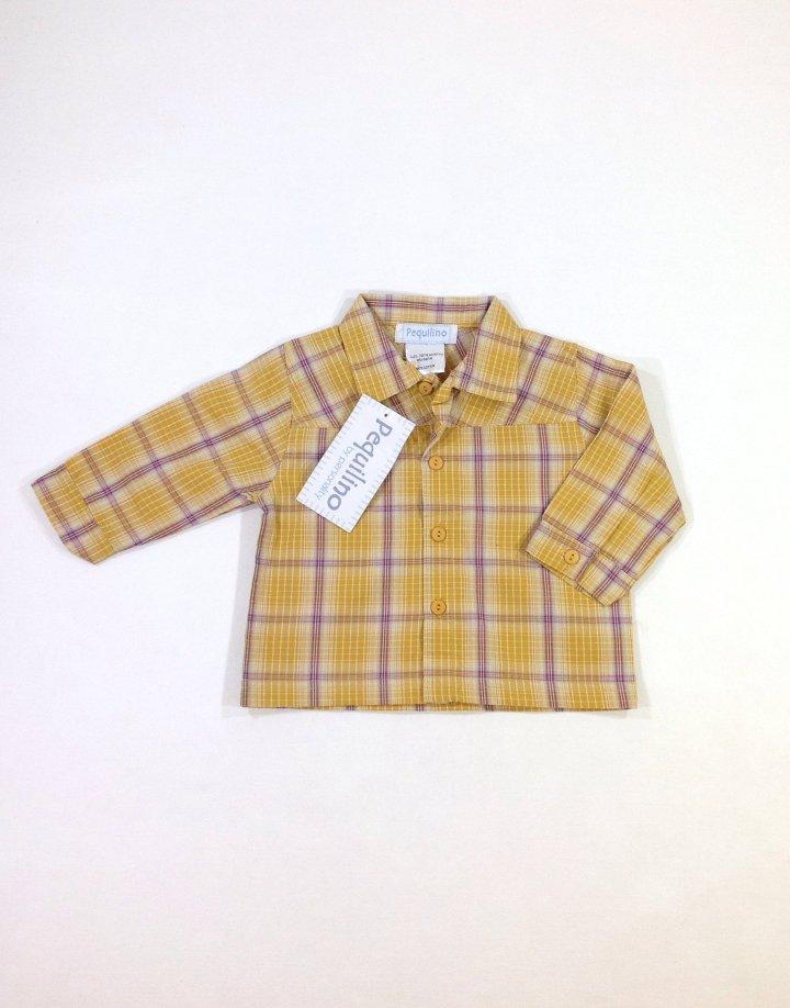 Pequilino mustár színű baba ing