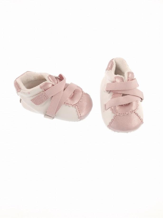 Adams rózsaszín baba cipőcske