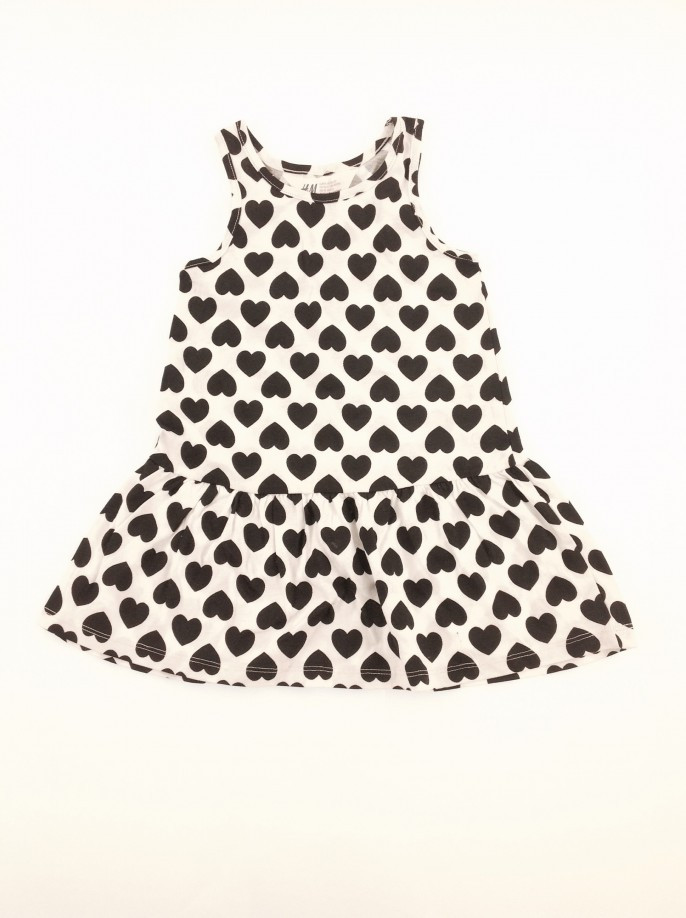 H&M szívecskés baba ruha