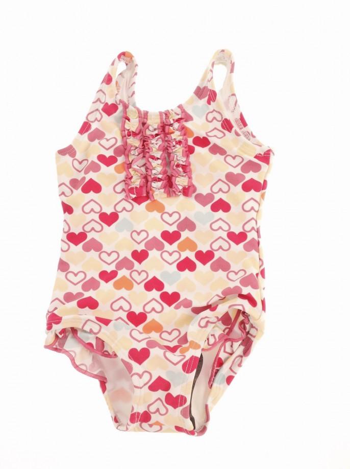St. Bernard szívecskés baba fürdőruha