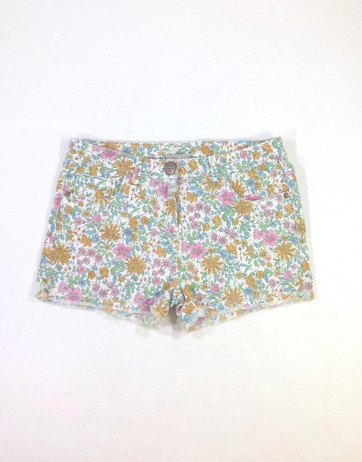 Next virág mintás farmer lányka rövidnadrág