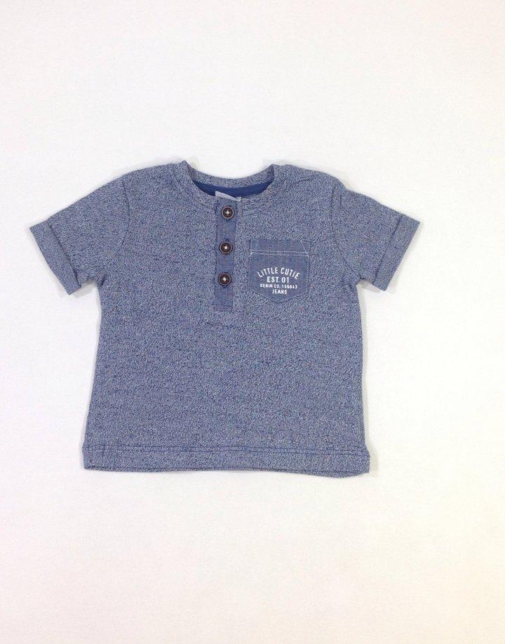 F&F kék baba póló