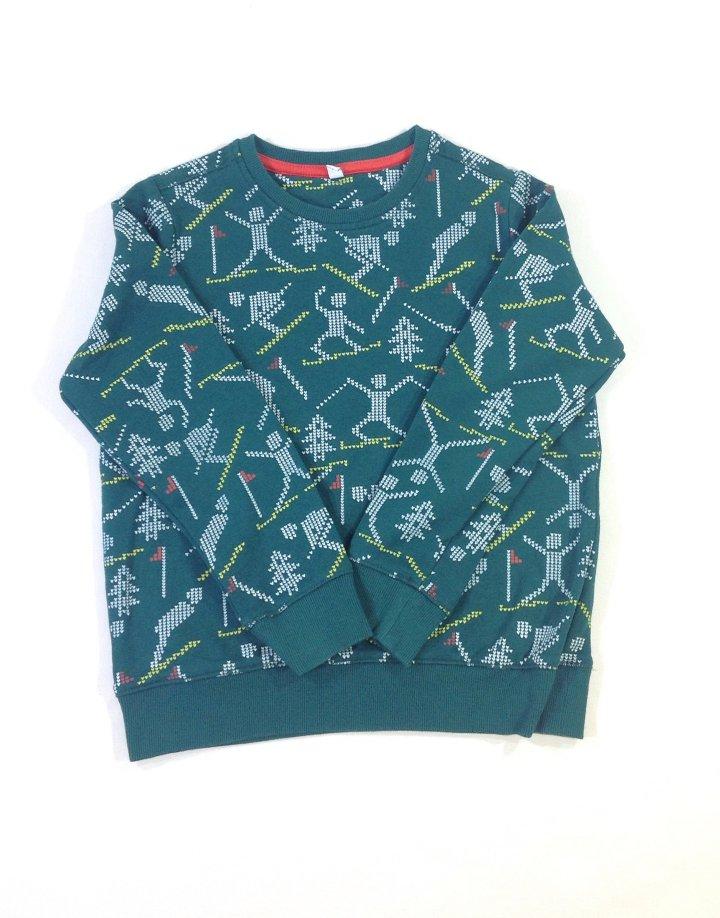 Marks&Spencer mintás kisfiú pulóver