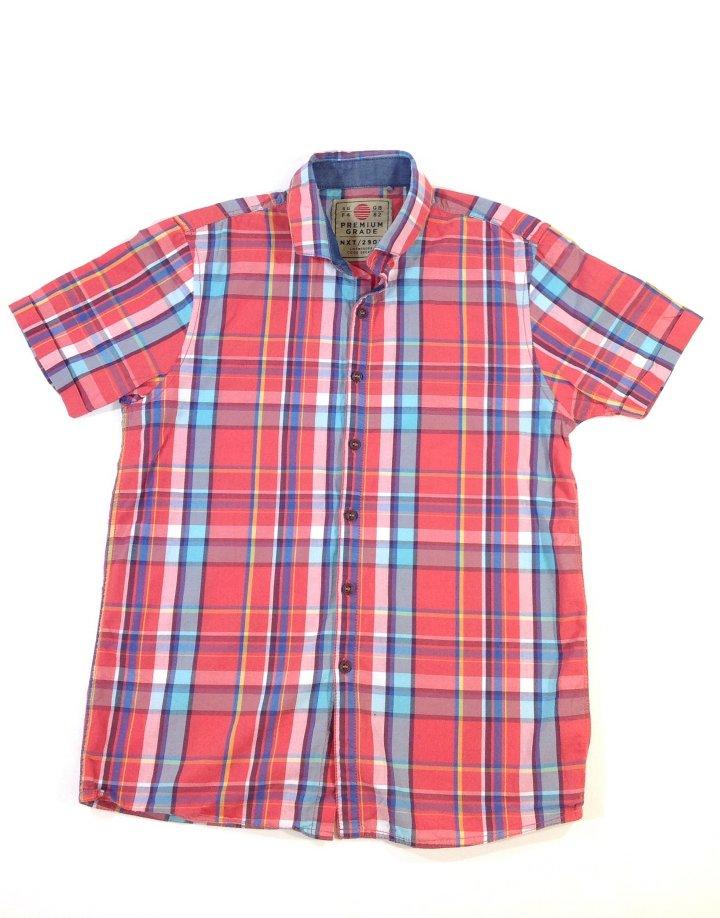 Next színes kockás fiú ing