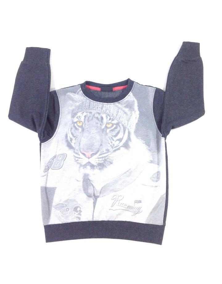 Next tigris mintás pulóver