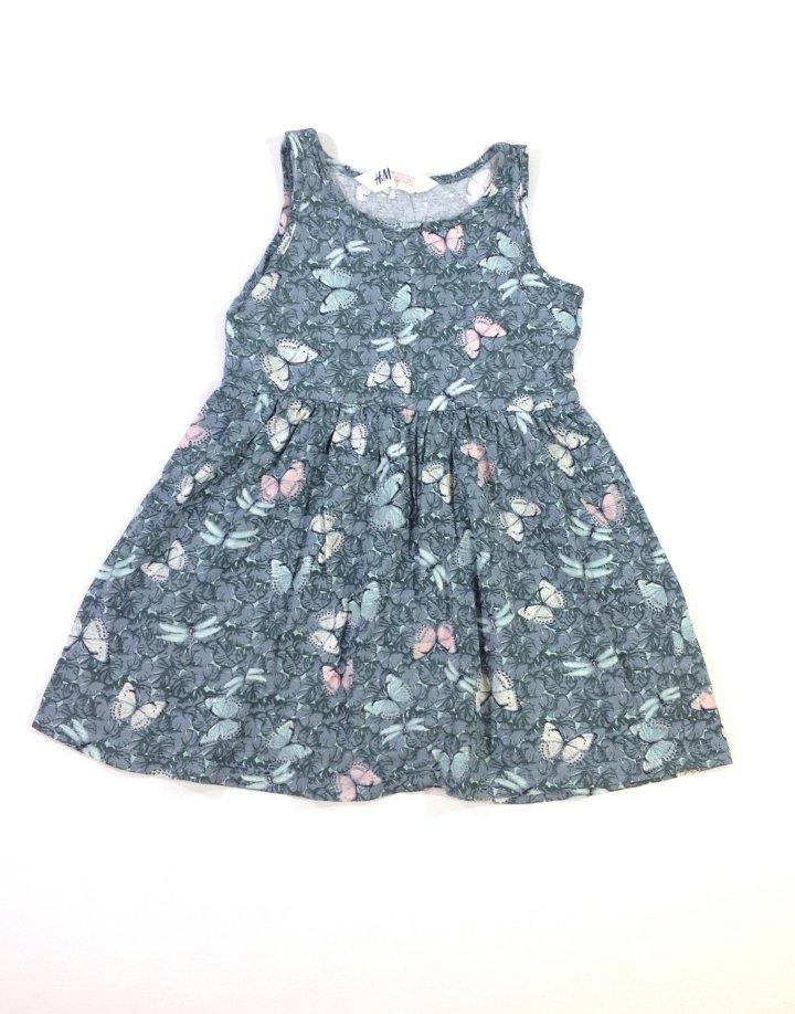 H M pillangó mintás kislány ruha   29a16276f9