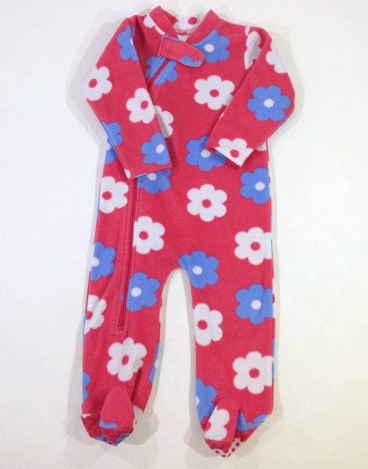 Baby virág mintás polár kislány rugdalózó   f0252d62a9