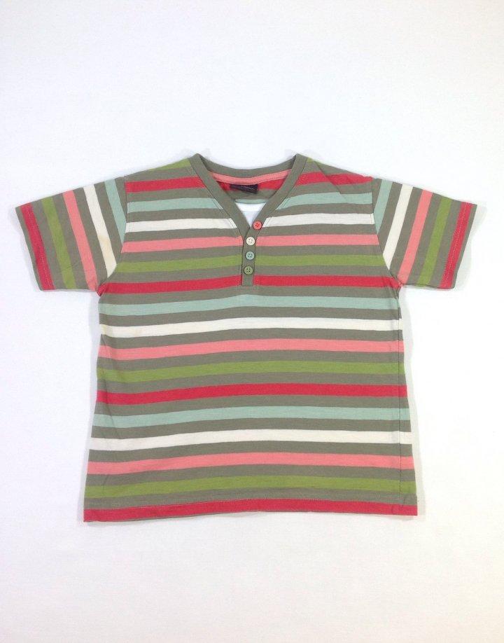 Next színes csíkos kisfiú póló