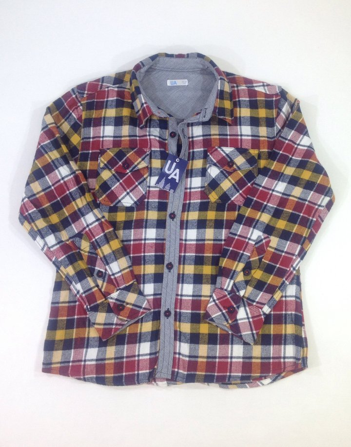 UA színes flanel fiú ing