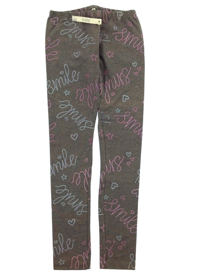 Idexe kislány feliratos szürke leggings