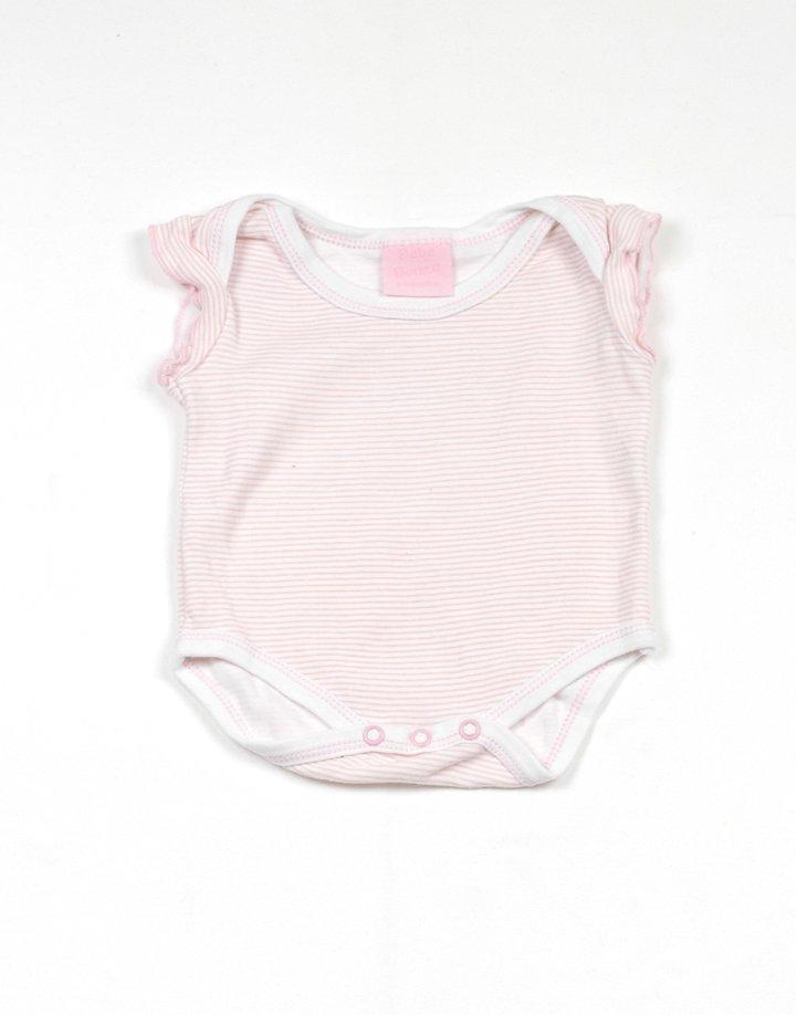 Fehér-rózsaszín csíkos body