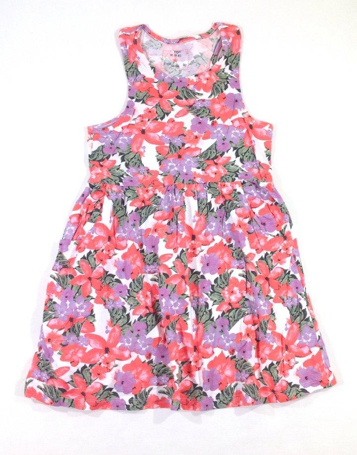 Y.d virág mintás lányka ruha