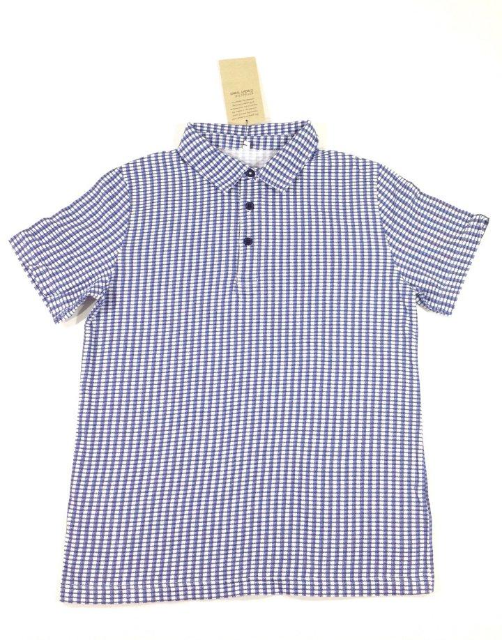 Marks Spencer kockás ingszerű fiú póló   55d6f1964a