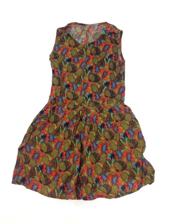Ananász mintás kislány rövidnadrágos ruha