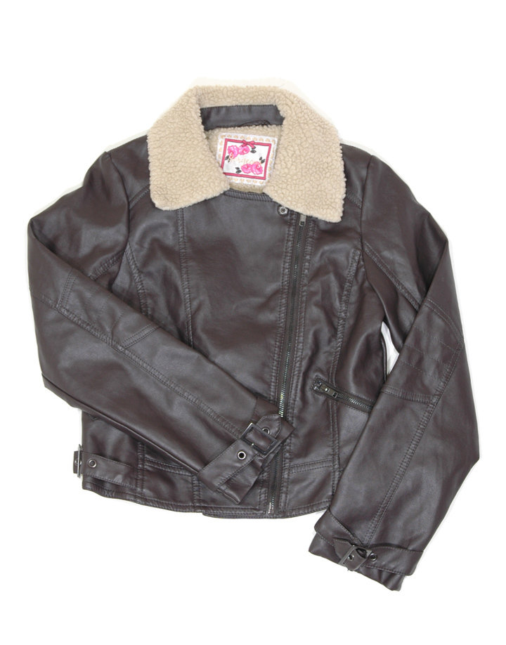St.Bernard barna műbőr dzseki
