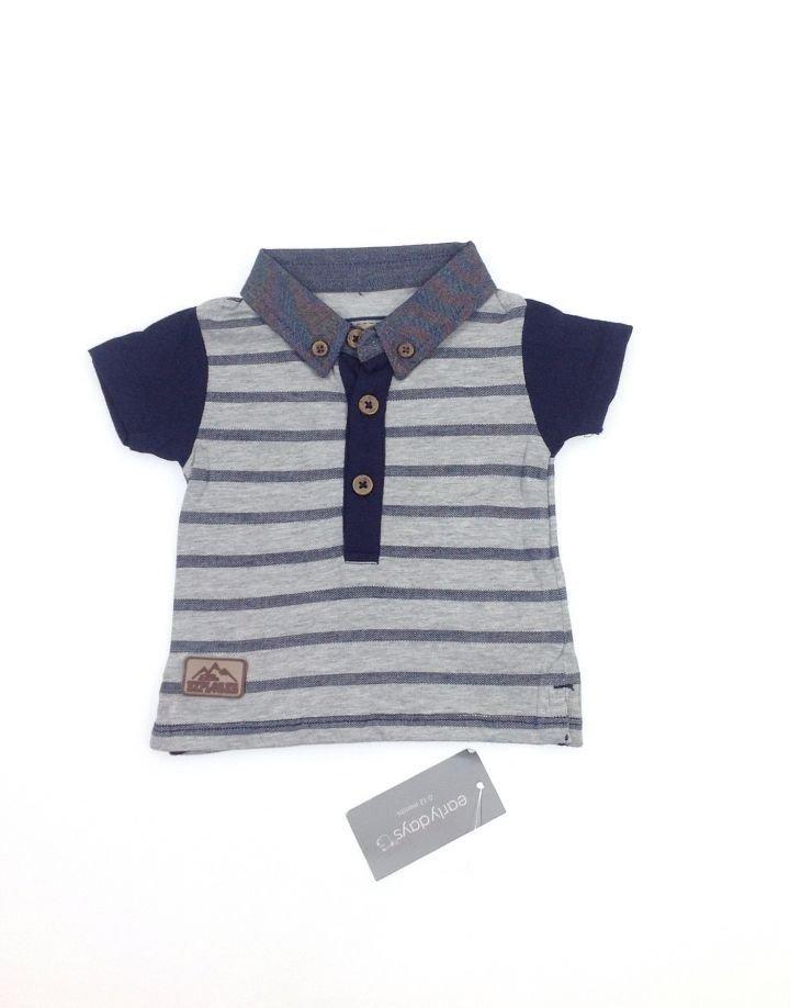 Early Days csíkos ingszerű baba póló