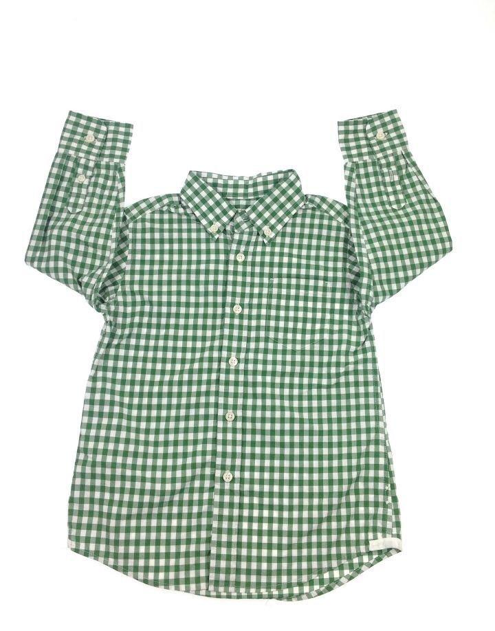 Zöld kockás kisfiú ing