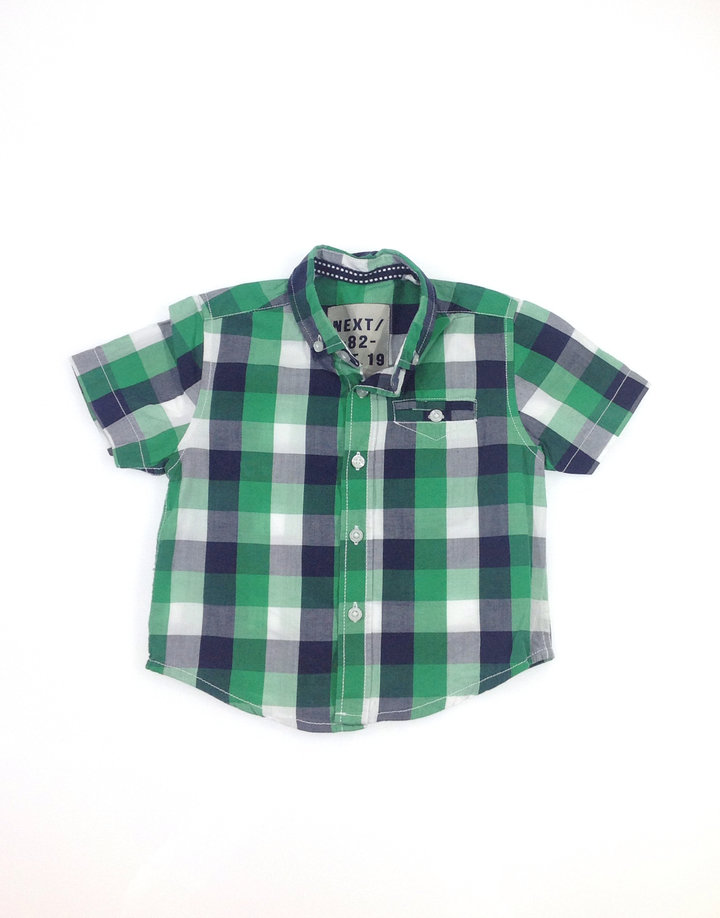 Next zöld kockás kisfiú ing