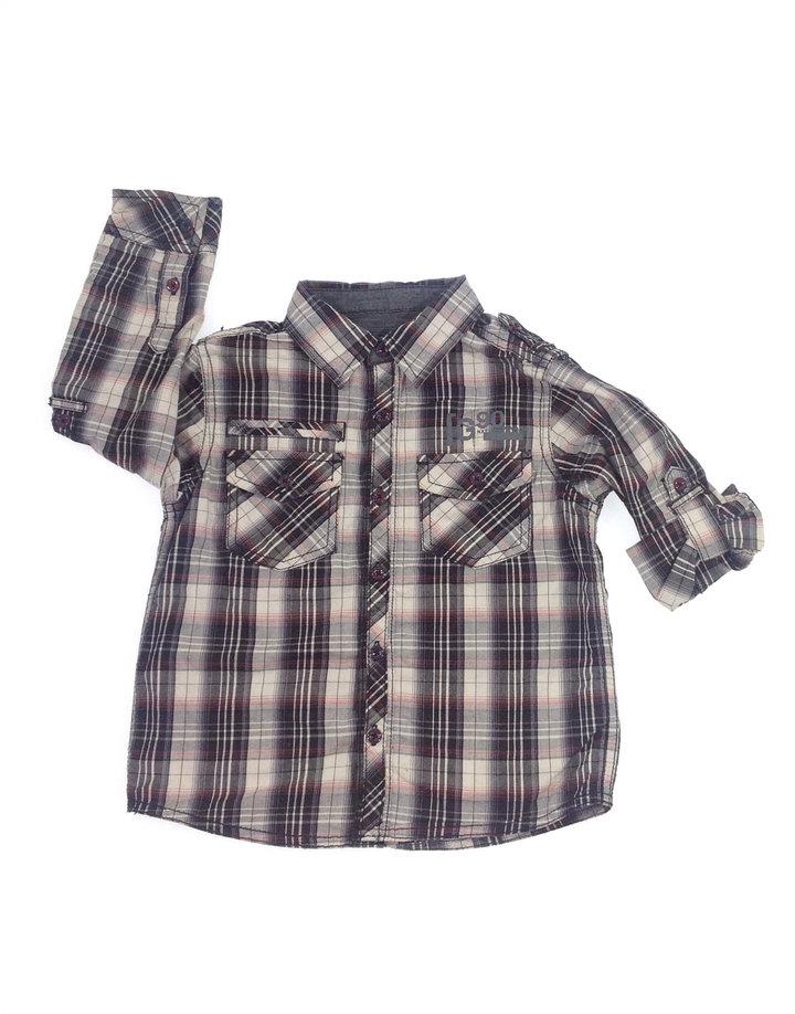 Next szürke kockás kisfiú ing