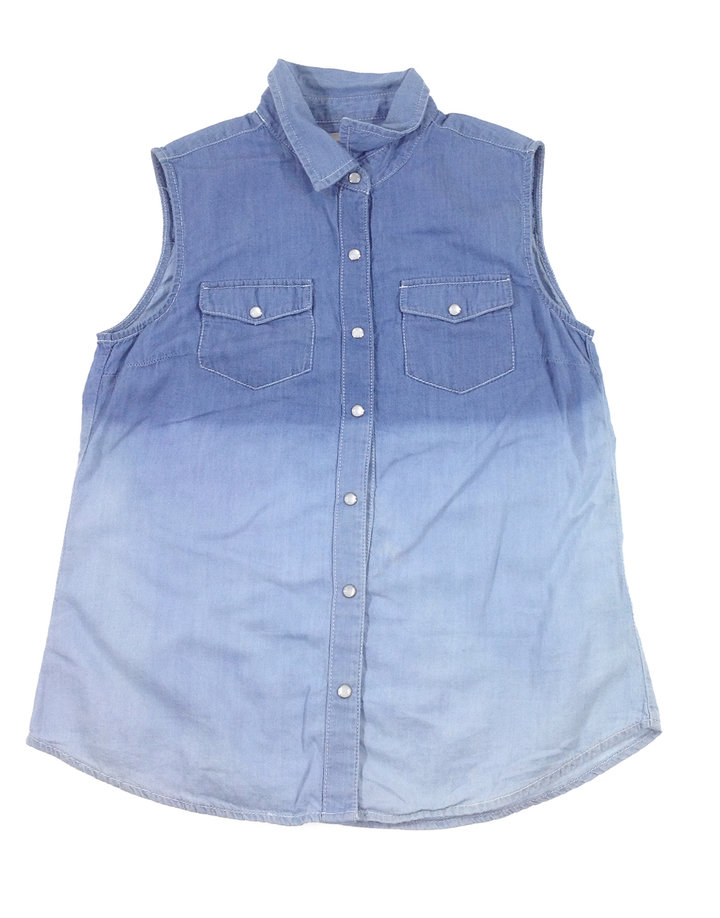 Marks&Spencer színátmenetes farmer lányka ujjatlan ing