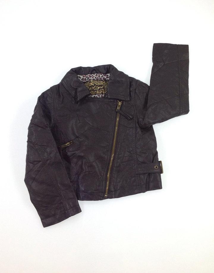 Girls2girl sötétbarna kislány műbőr kabát   6ac70098ff