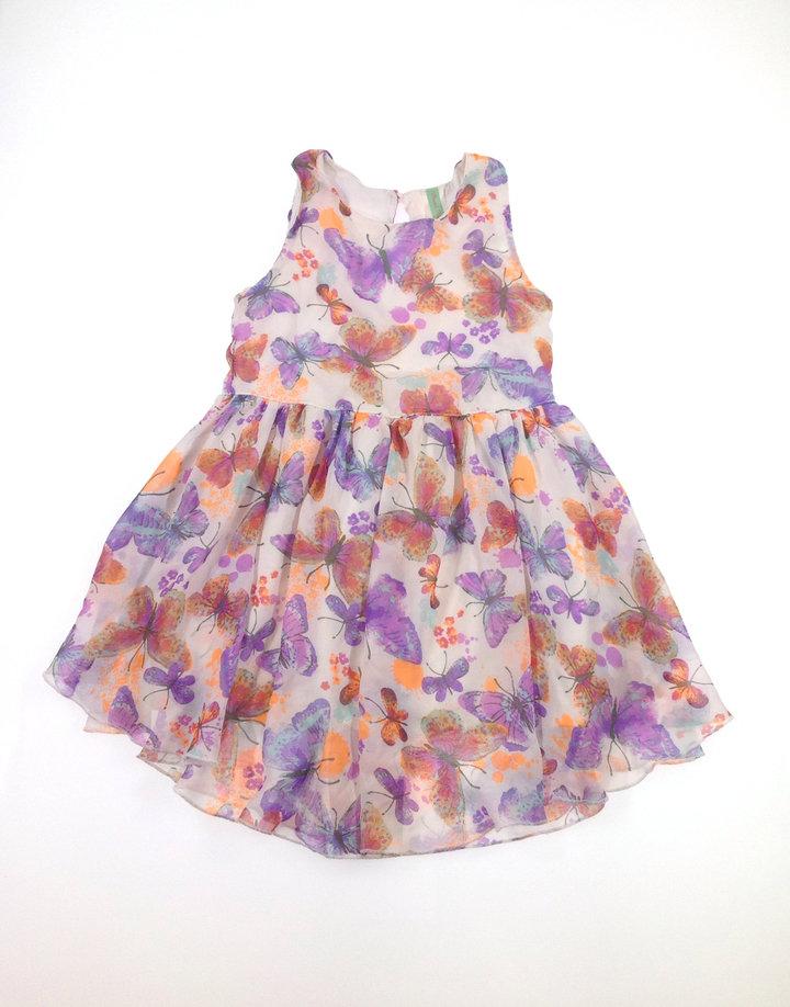 St. Bernard pillangó mintás kislány ruha