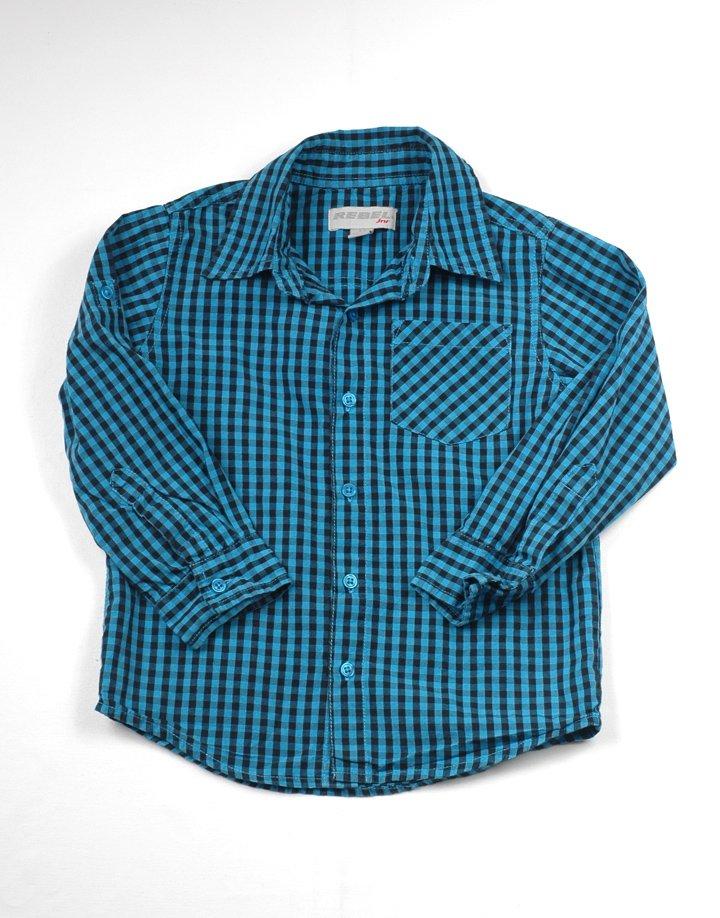 Rebel kék kockás hosszú ujjú ing
