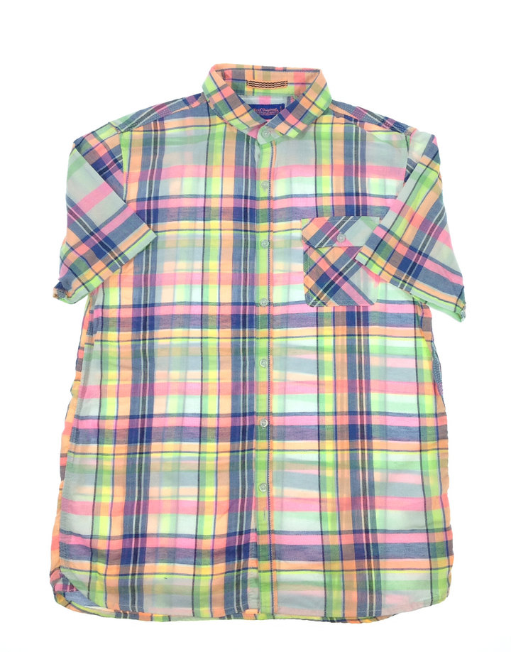 0b526e2255 Next élénk színes kockás fiú ing | Gyerekruha Klub