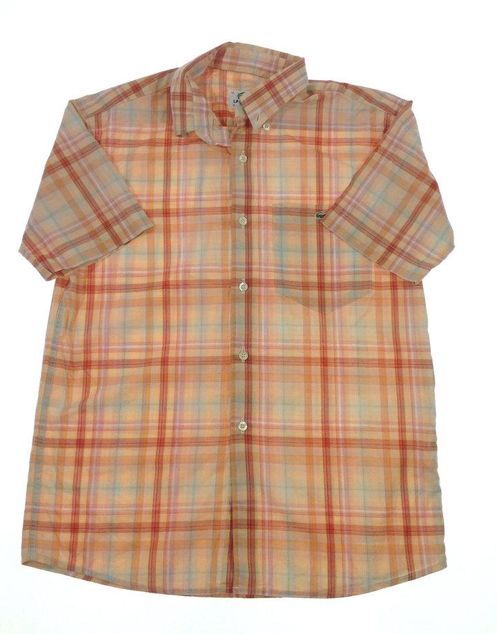 Lacoste világos kockás fiú ing