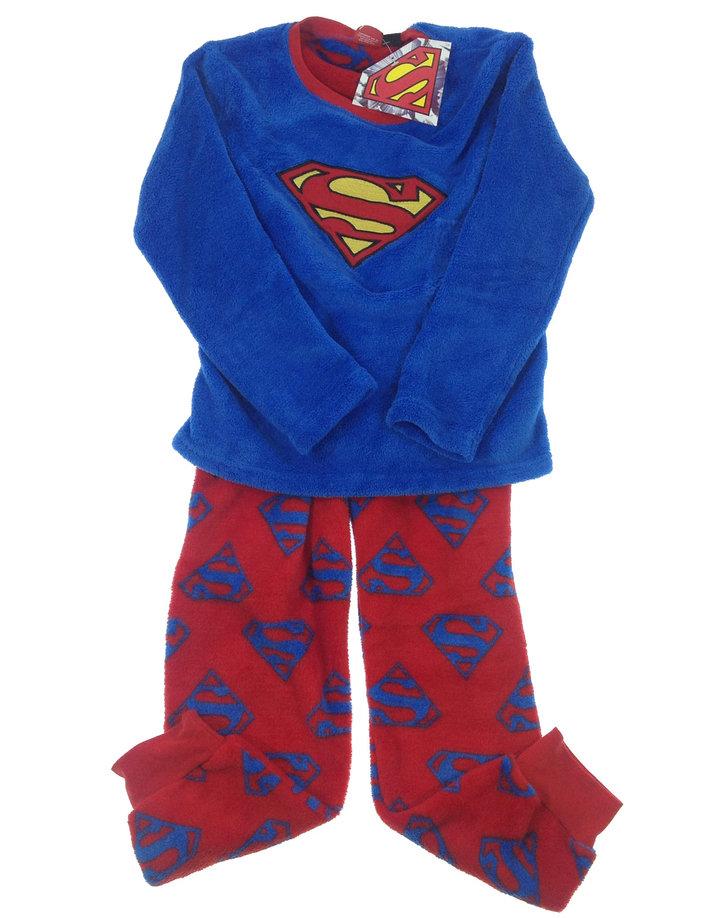 Rebel Superman mintás plüss kisfiú pizsama  77d8fadc4b