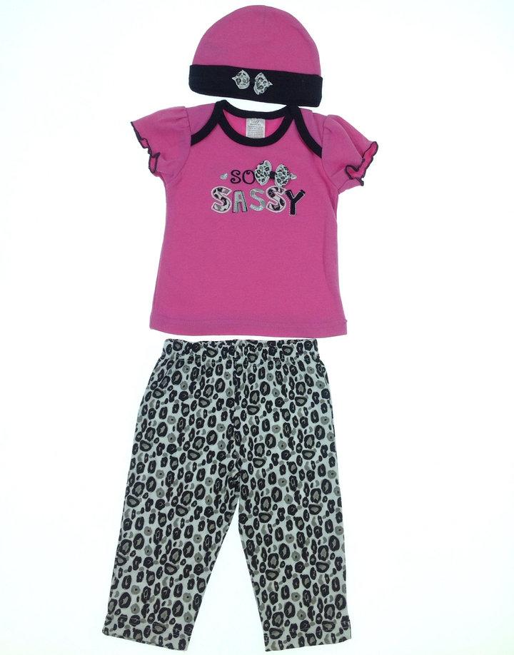 Baby feliratos baba póló leggings-sel és sapkával