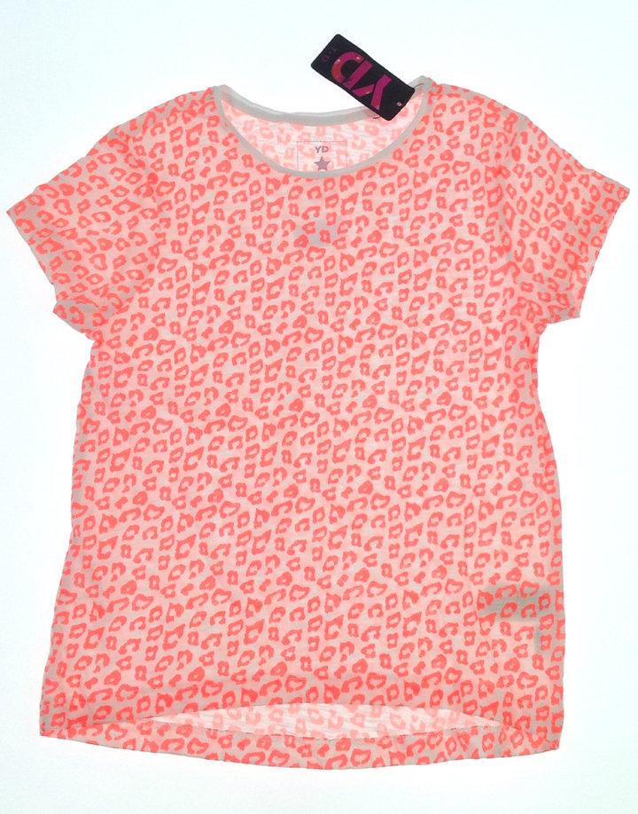 Y.d narancssárga párduc mintás kislány póló
