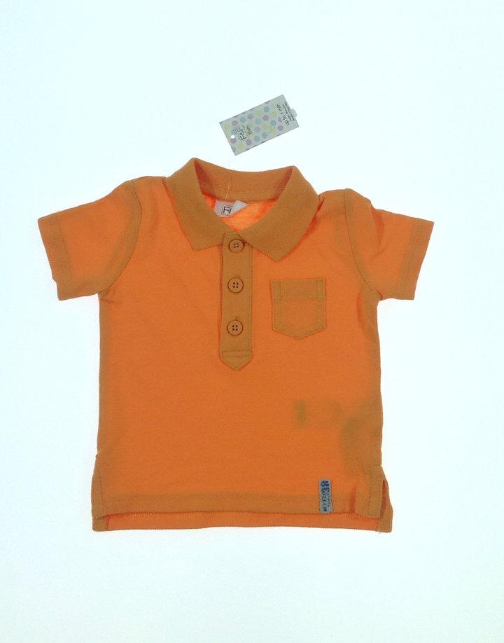 F&F narancssárga ingszerű baba póló